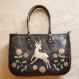 再販&受注★鹿踊りのはじまり レザーバッグ カラー・黒