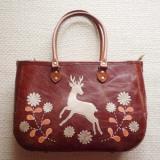 再販&受注★鹿踊りのはじまり レザーバッグ カラー・茶色