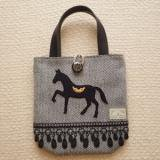 受注製作★馬の王様・ミニバッグ A柄