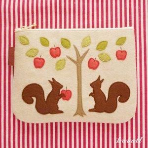 仲良しポーチ・思い出のリンゴ