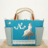 ★Alice garden・爽やかターコイズ★不思議の国のアリスのマザーズバッグ