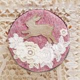 春待ちまんまるポーチ・ウサギ1