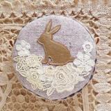 春待ちまんまるポーチ・ウサギ2