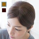 つむじ・分け目用ヘアピースウィッグ-人毛100%ライトブラウン