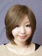 サラサラ前髪長めショート-ハニーブラウン