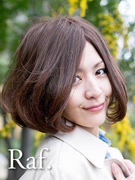 フルウィッグ-雰囲気ワンカールボブ-ビターメープルブラウン-逆毛ふんわり型