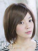 小顔シャギーカジュアルショート-ライトブラウン-逆毛ふんわり型