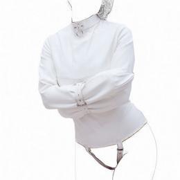 ストレイトジャケット(拘束衣)ホワイト■合皮