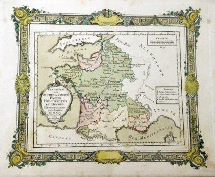 ルイ・ブリオン・ド・ラ・トゥール【フランス】 フランス地図 1765年 ...
