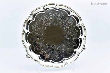 Edward & John Barnard【イギリス】 純銀サルヴァ 1861年