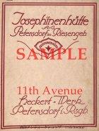 ヨゼフィーネンヒュッテ【Josephinenhutte】1920年代公式製品カタログ