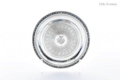 ドイツ【アンティーク】紋章文純銀トレイ