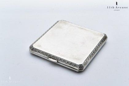 マッピン&ウェッブ【イギリス】純銀製シガレットケース 1946年