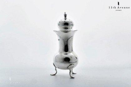 John Round【イギリス】純銀製ソルトシェーカー 1897年