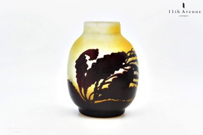 ガレ【Galle】海藻文花瓶