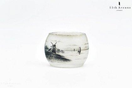 ドーム兄弟【Daum Nancy】オランダ風景文ミニチュア花瓶
