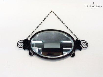 フランス【アール・デコ】錬鉄の壁掛けミラー