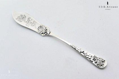 鴻池【里帰り】純銀製菊文バターナイフ