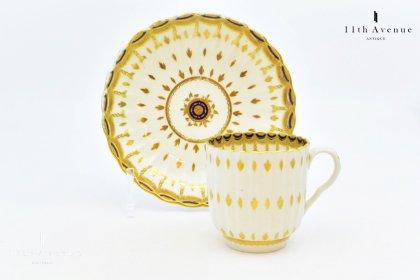 ウースター【イギリス】 金彩装飾カップ&ソーサー 18世紀