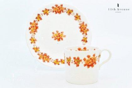 ミントン【イギリス】 花文カップ&ソーサー 1820~30年代