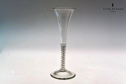 イギリス【アンティーク】 オペークツイスト フルートグラス 1770年頃