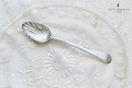 イギリス【アンティーク】フェザーエッジ純銀製スプーン 1770年頃
