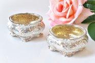 Flamant【フランス】ルイ15世様式純銀製塩入れ ペア