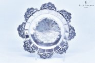 オーストリア帝国【アンティーク】純銀製ロココ様式プレート 1845年