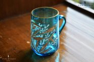 ボヘミア【アンティーク】金彩とエナメル装飾のグラス