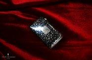 フランス【アンティーク】純銀製ニエロ(黒金象嵌)の花文マッチケース