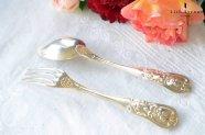 ピュイフォルカ【フランス】純銀製スプ—ン&フォーク 1800年代半ば