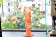ガレ【フランス】菊文花瓶