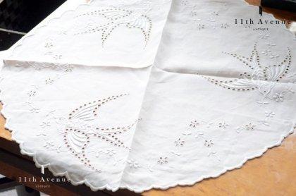 イギリス【ヴィンテージ】アイレット 鳥のテーブルマット