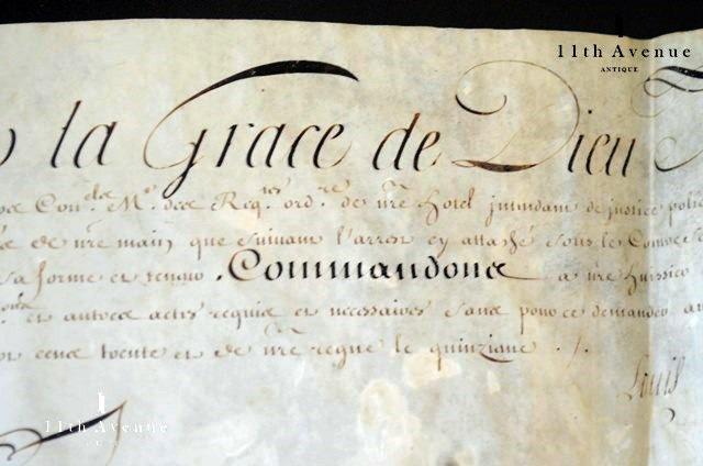 フランス【アンティーク】ルイ15世 書状 1731年