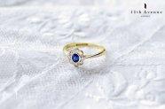 イギリス【アンティーク】サファイア&ダイヤモンド デイジーリング