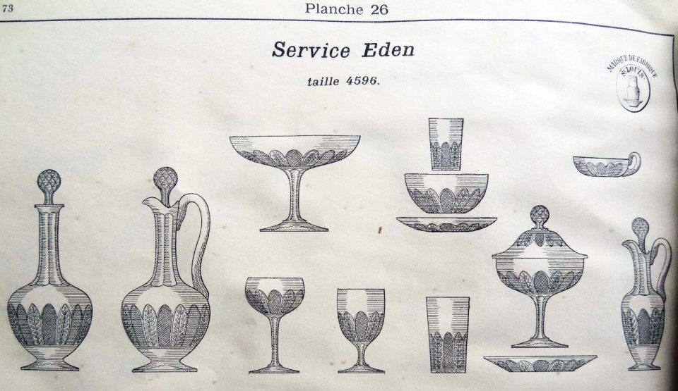 サン・ルイ【フランス】「EDEN(エデン)」グラス 1客