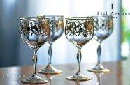 ドイツ【アンティーク】ユーゲント・シュティール 金彩装飾ワイングラス