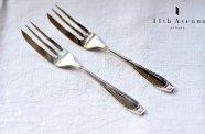 イギリス【アンティーク】純銀製ペストリーフォーク ペア 1939年