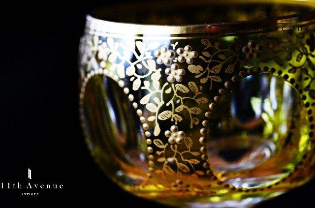 サン・ルイ【フランス】黄被せ 金彩ワイングラス