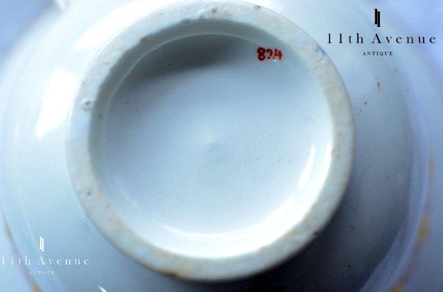 コールポート【イギリス】ジョン・ローズ期 花文カップ&ソーサー 1820年頃