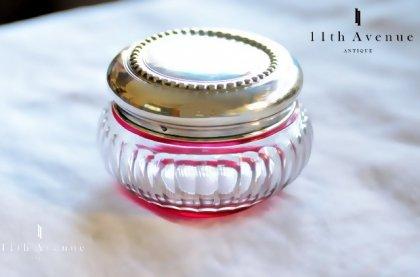 Louis Coignet【フランス】純銀と被せガラスのボンボニエール