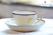ダービー【イギリス】金彩コバルト装飾ティーカップ&ソーサー 1780年代