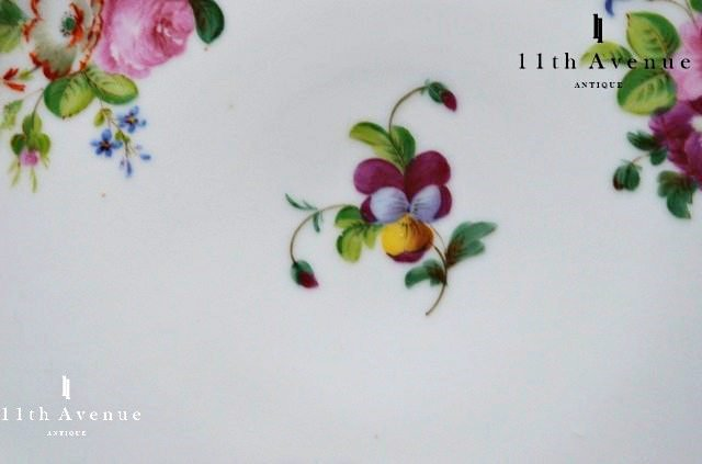 ボワイエ【フランス】花文プレート 1830年代頃