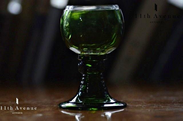 イギリス【アンティーク】クレイヴン伯爵紋章入グラス 1800年代半ば