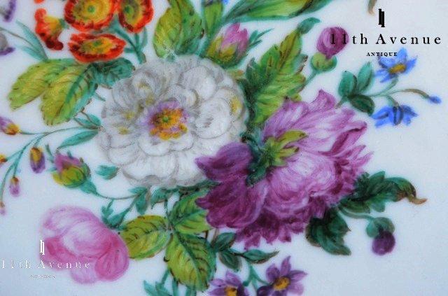 ボワイエ【フランス】紋章入花文プレート D 1830年代頃