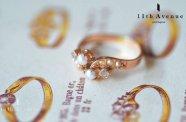フランス【アンティーク】パール&ダイヤモンド リング 18金