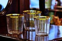 ボヘミア【アンティーク】カット装飾金彩タンブラーセット 1700年代後半