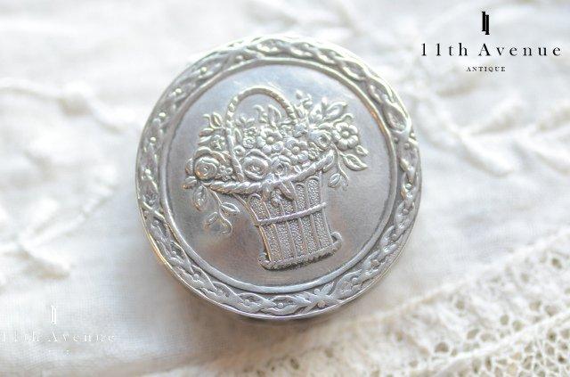 フランス【アンティーク】シルバー製花籠のピルケース