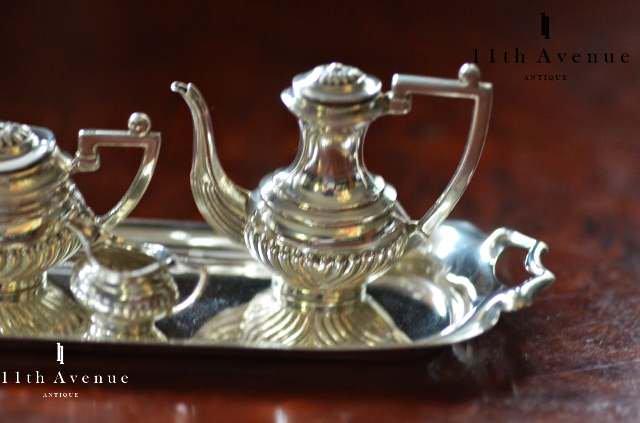 A.Marston&Co【イギリス】純銀製ミニチュアのティー&コーヒーサービスセット 1961年