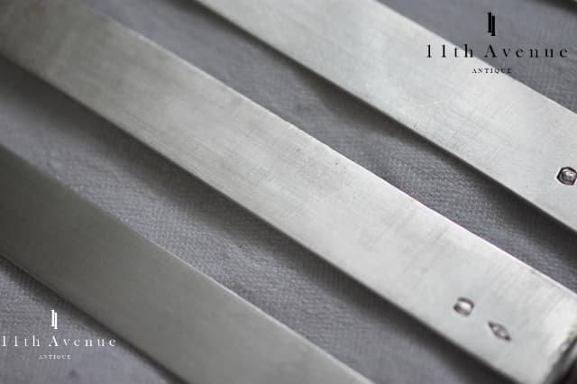 フランス【アンティーク】白蝶貝&純銀製フロマージュナイフ 6本セット 19世紀